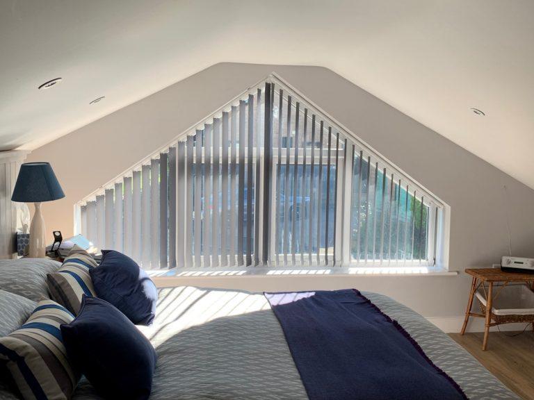 vertical blinds shaped