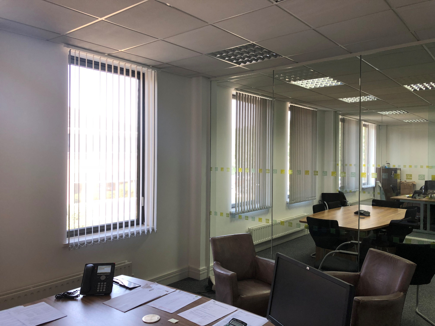 Commercial Office vertical blinds