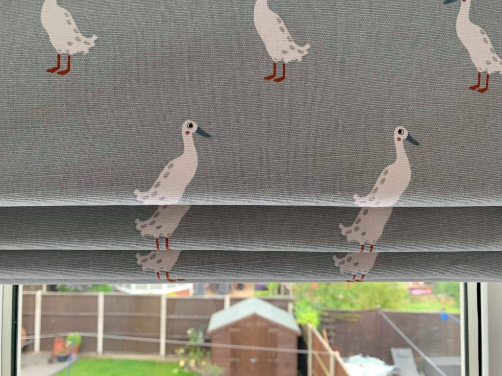 Roman Blinds with Ducks