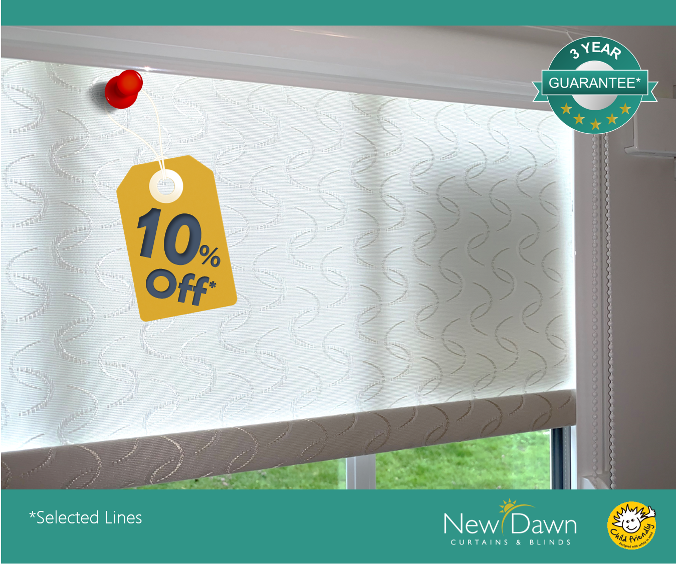 no drill roller blinds 10% off