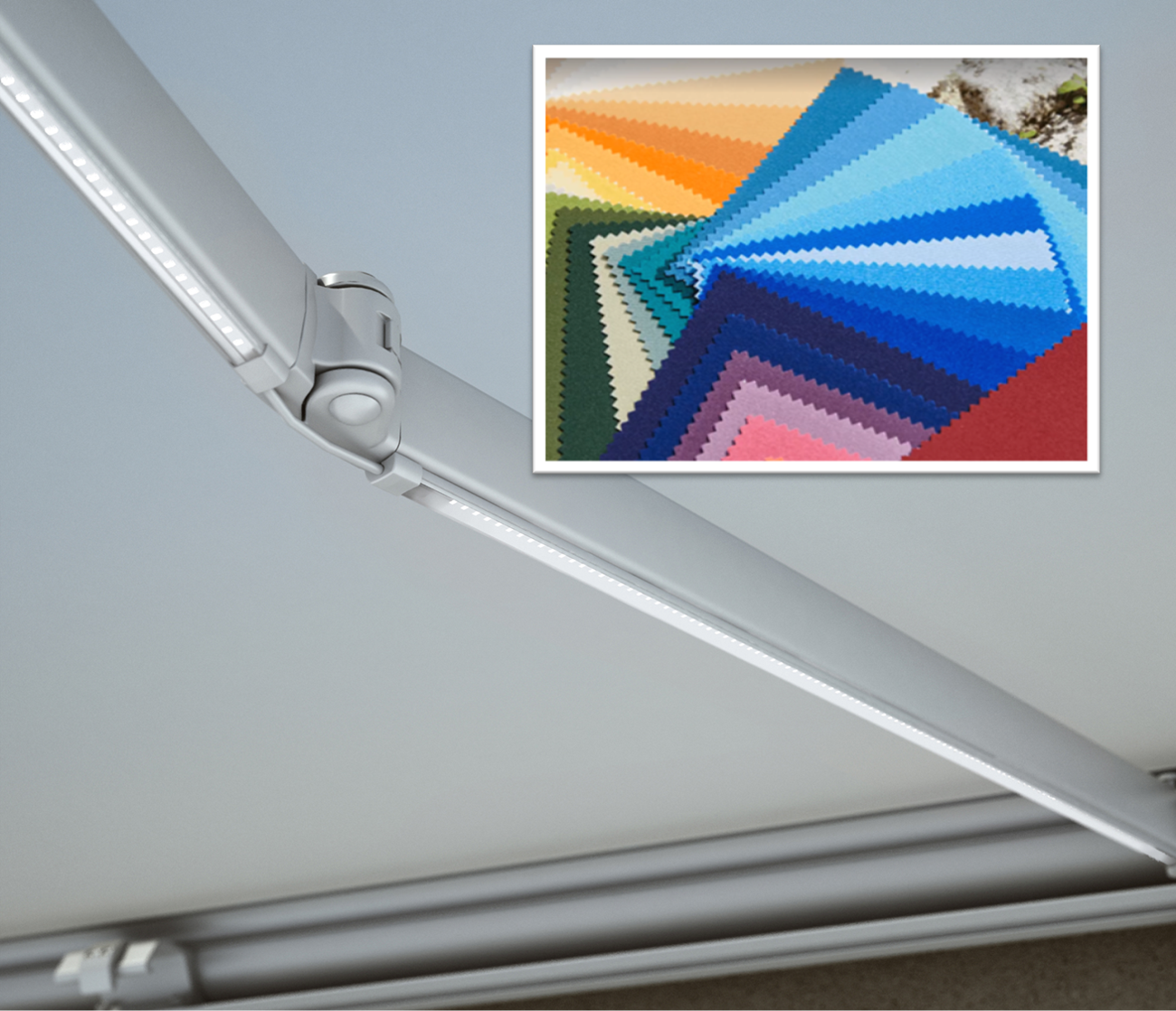 awning colours and lighting options