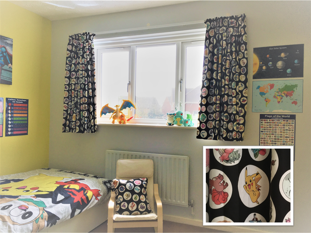 childrens curtains own material