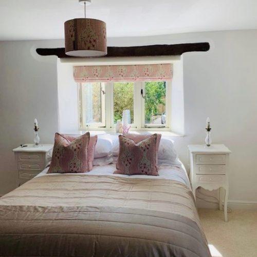 matching curtains, cushions and lampshade